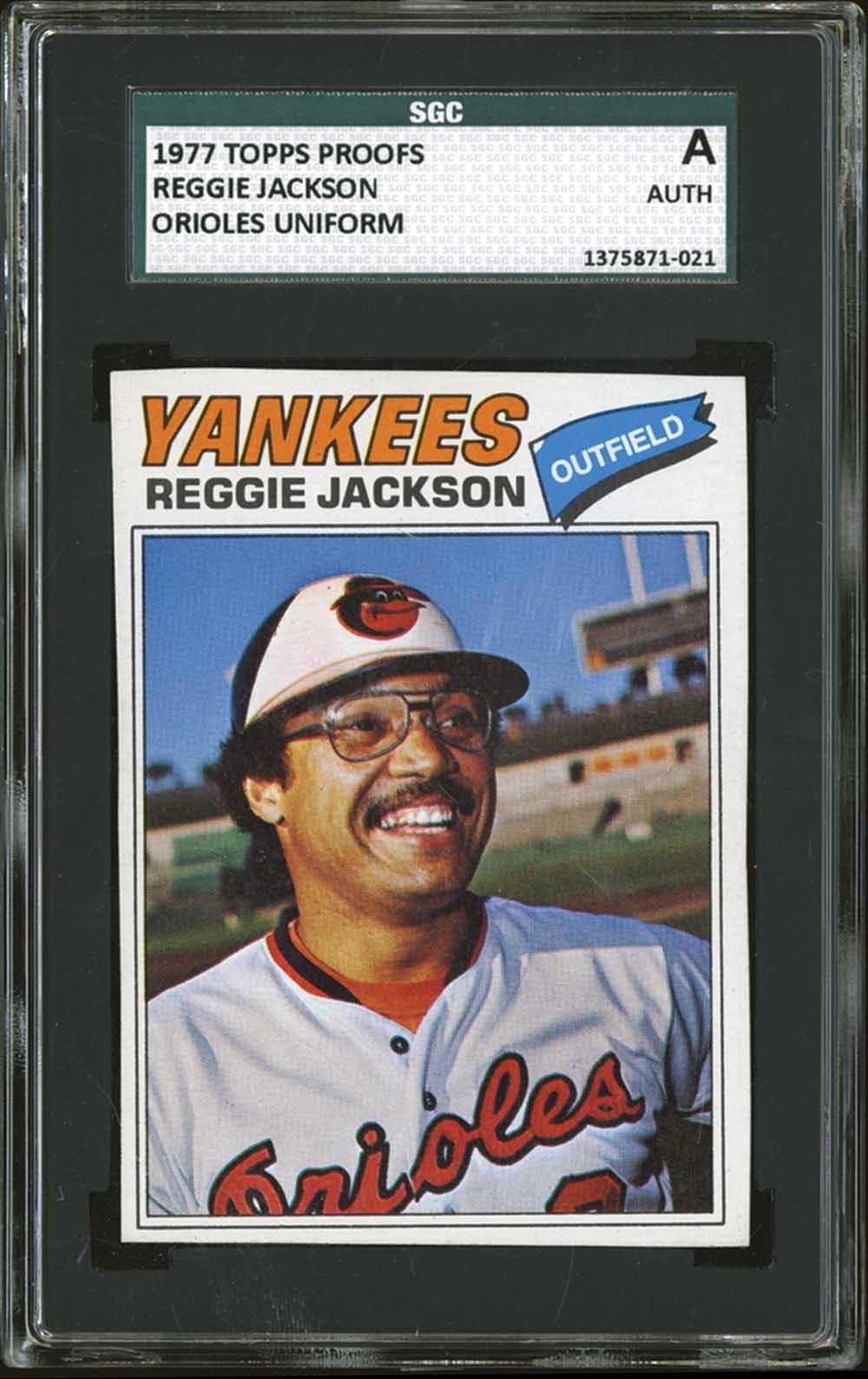 Lot 1197 1977 Topps Reggie Jackson Baltimore Orioles