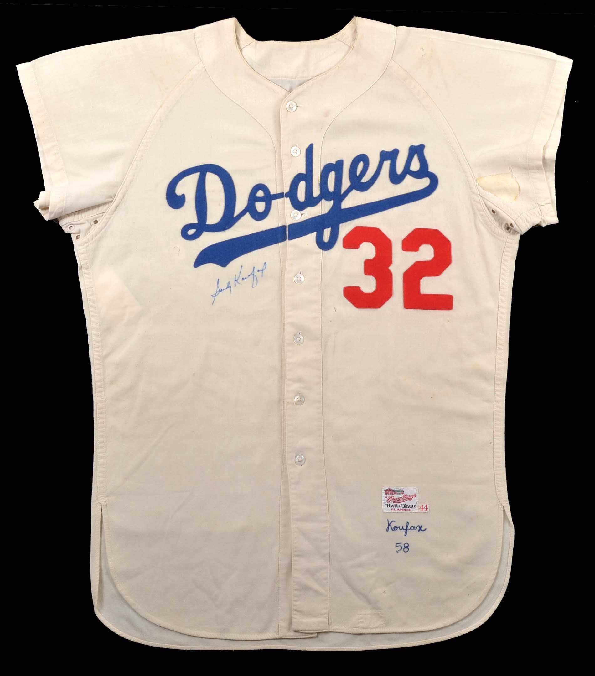 Lot   17  1958 Sandy Koufax Los Angeles Dodgers Signed Game ... 3abb8e6b5