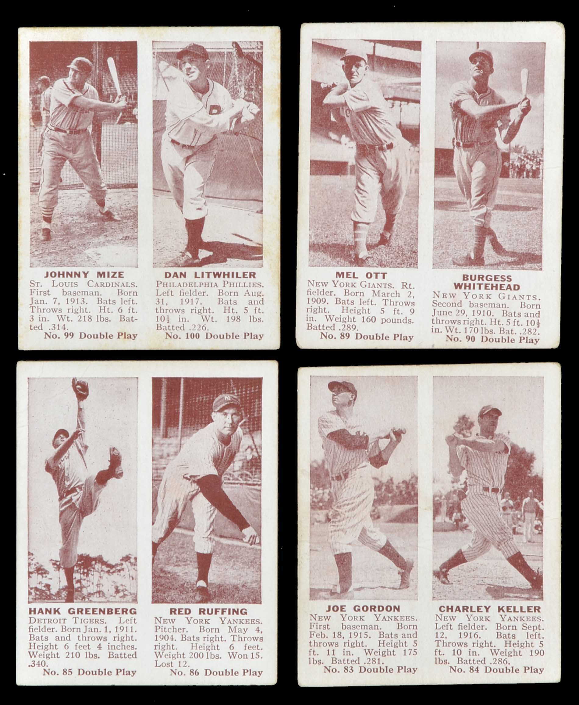 Lot # 1083: 1941 R330 Double Play Complete Set (75)