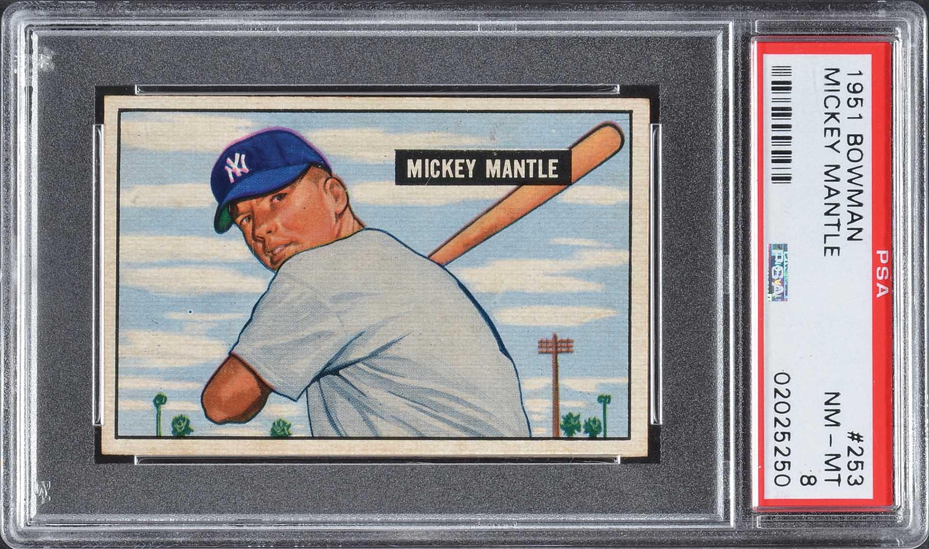 1951 Bowman 253 Mickey Mantle Rookie Psa Nm Mt 8