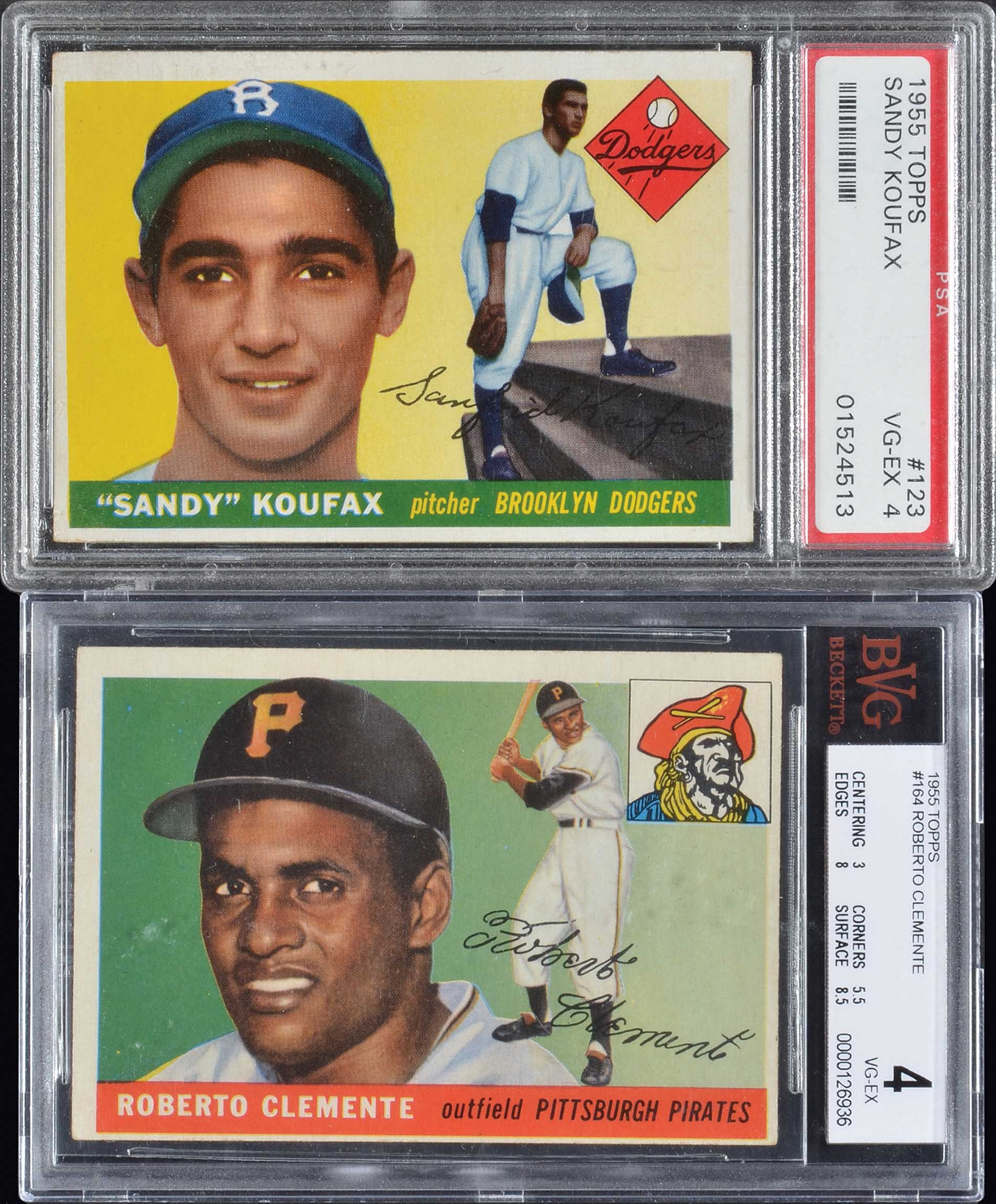 Lot 1200 1955 Topps Roberto Clemente And Sandy Koufax
