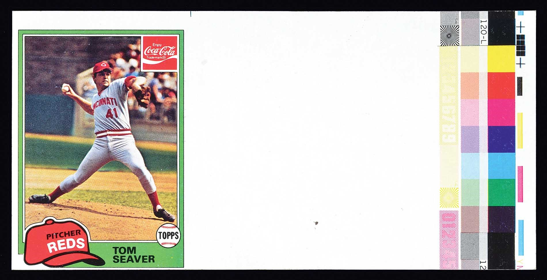 1981 Topps Coca Cola Tom Seaver Unissued Proof Card