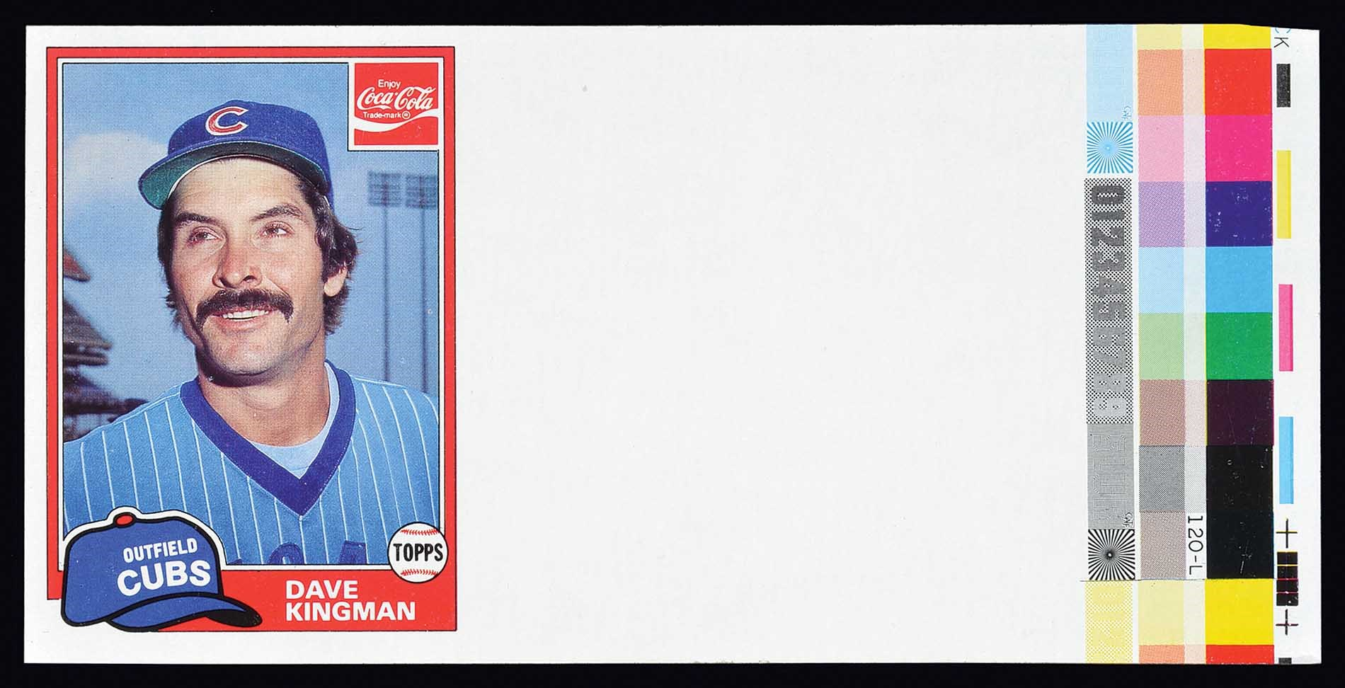 Lot 1456 1981 Topps Coca Cola Dave Kingman Unissued