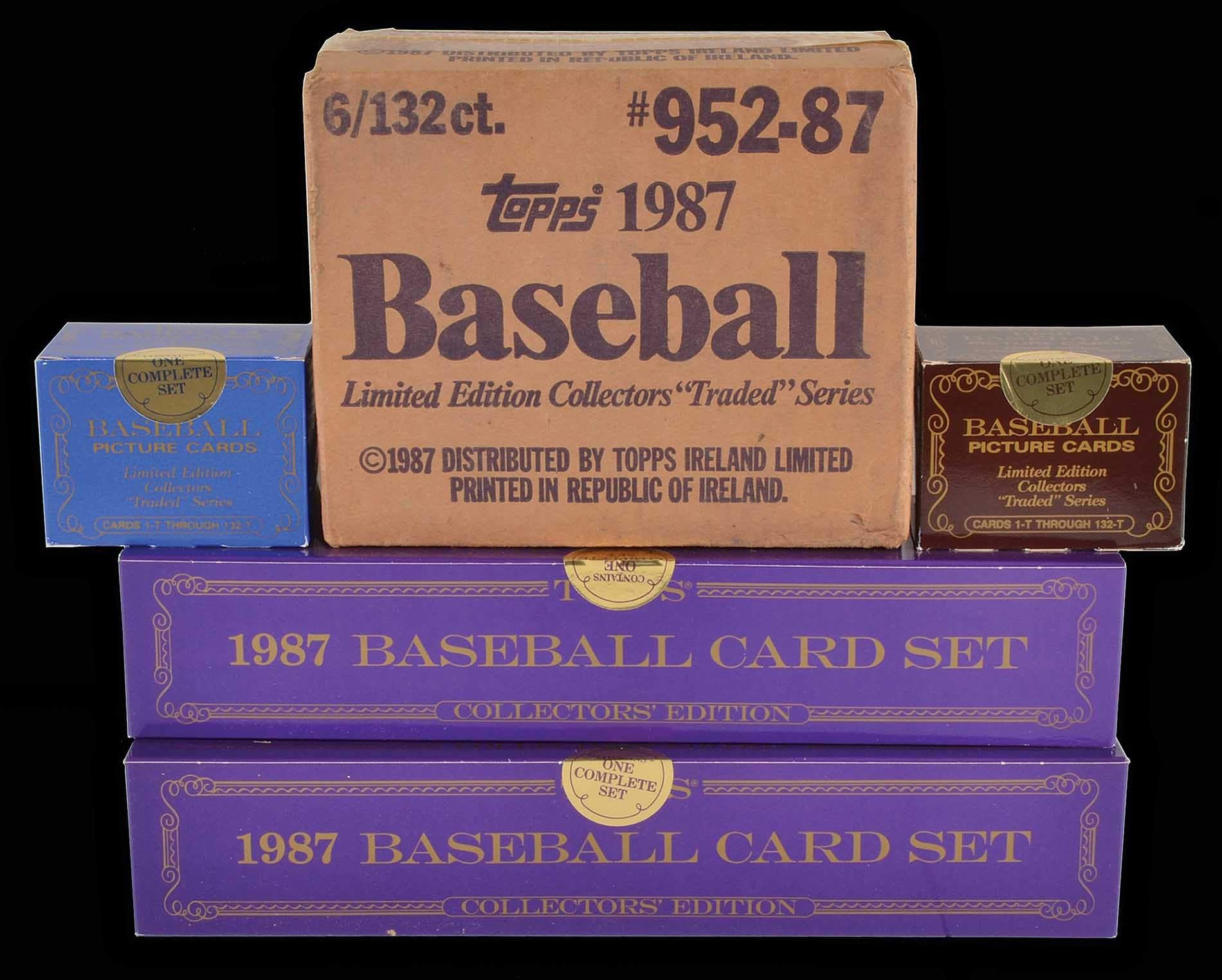 Lot 1468 1985 To 1987 Topps And Topps Traded Tiffany