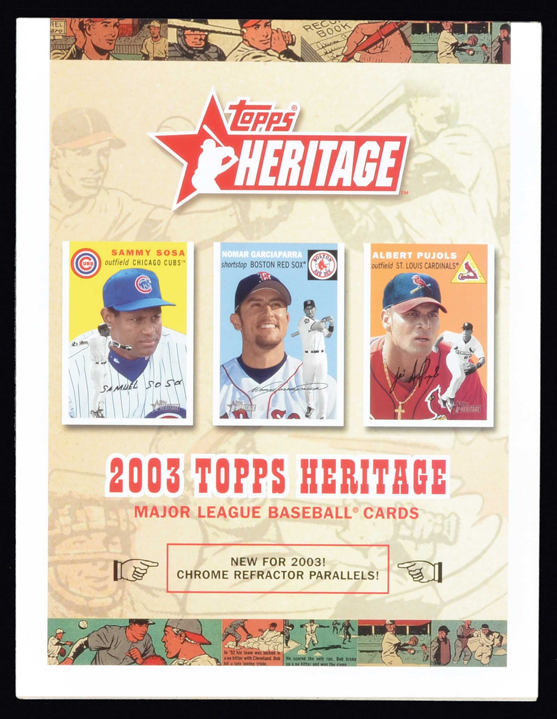 Lot 1478 2003 Topps Heritage Near Complete Master Set