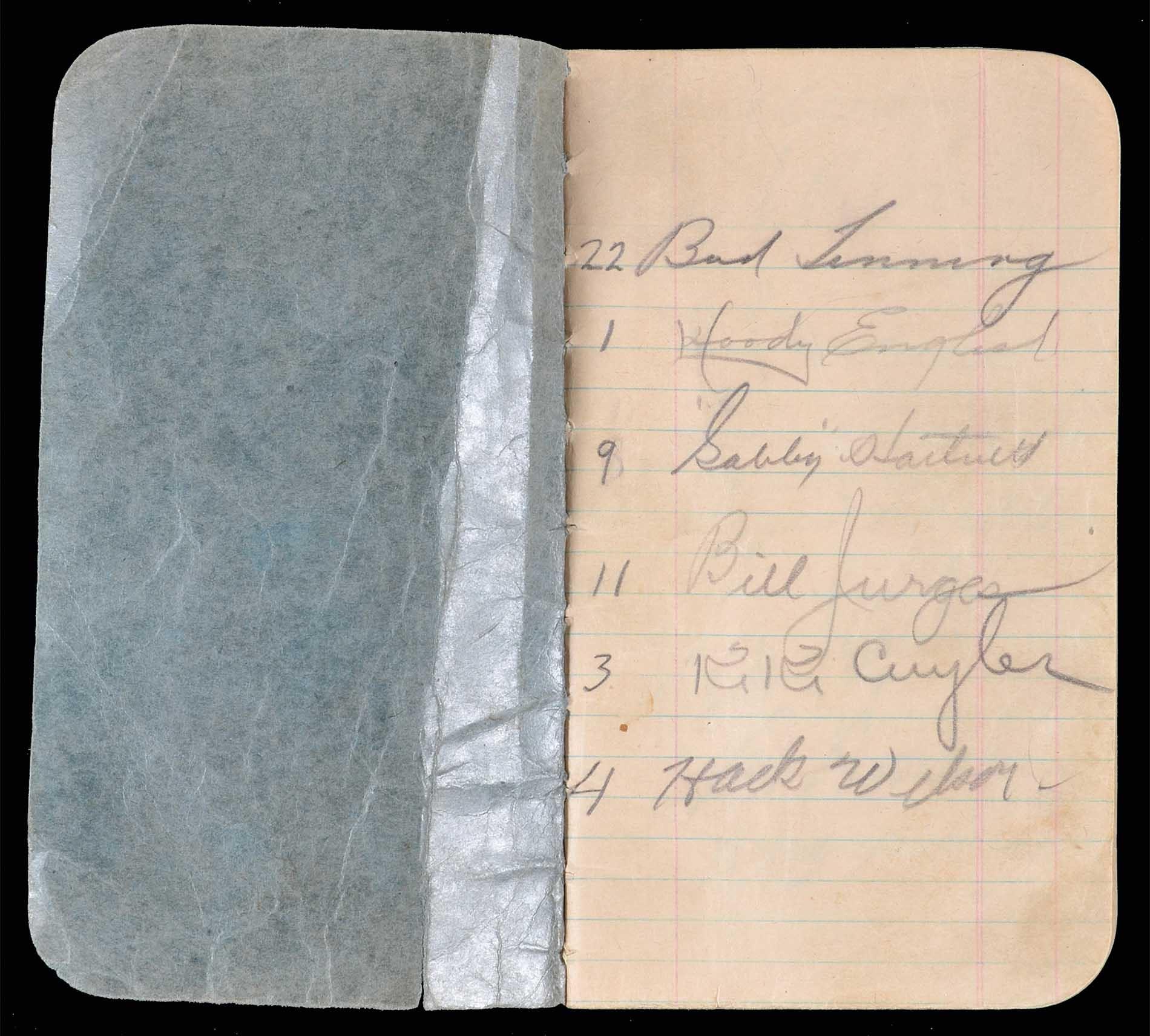 Lot # 1514: 1934 Autograph Book Featuring 17 Signatures