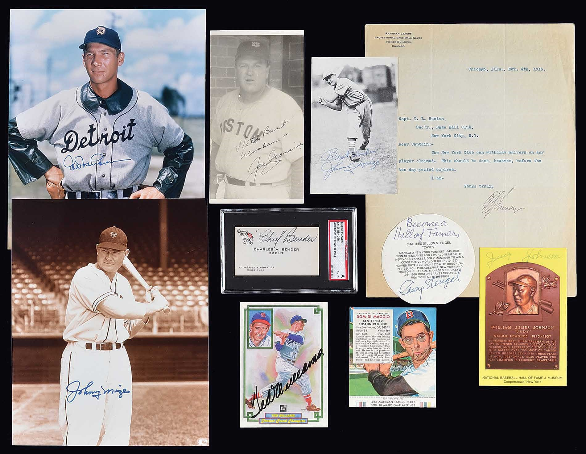 Lot 1629 Large Baseball Autograph Collection 57 With 28