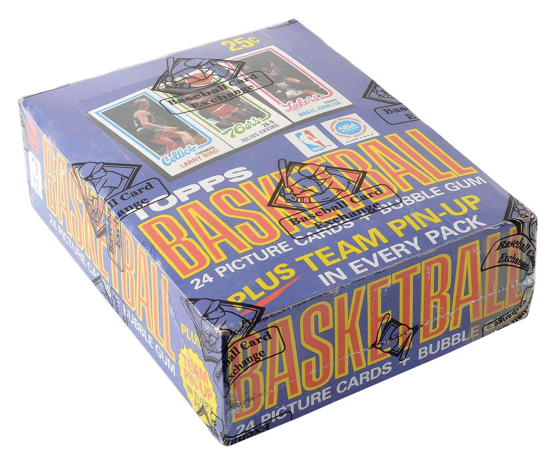 Lot 2340 1980 1981 Topps Basketball Unopened Wax Box