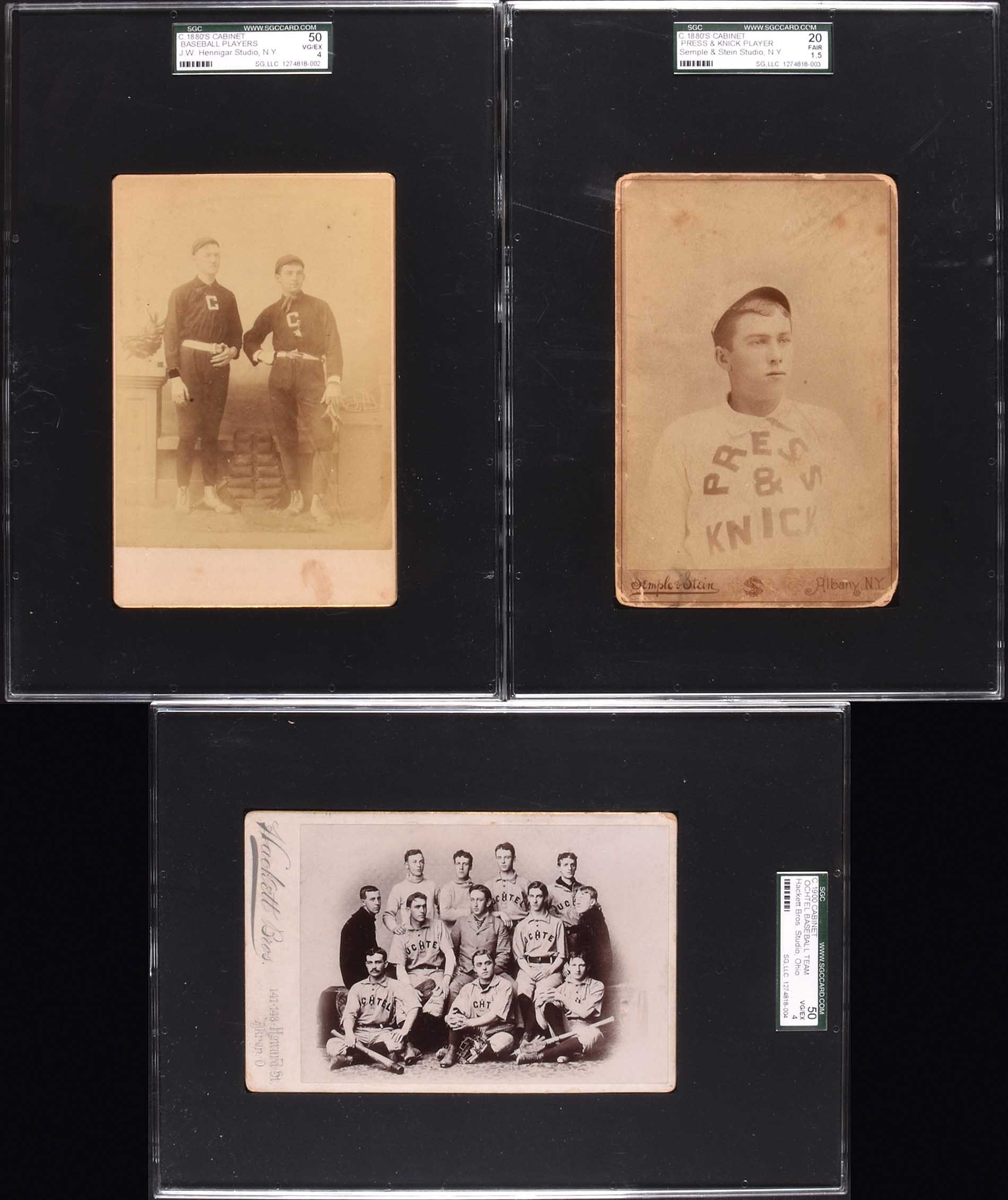 Late 1800s Baseball Cabinet Card Collection 3