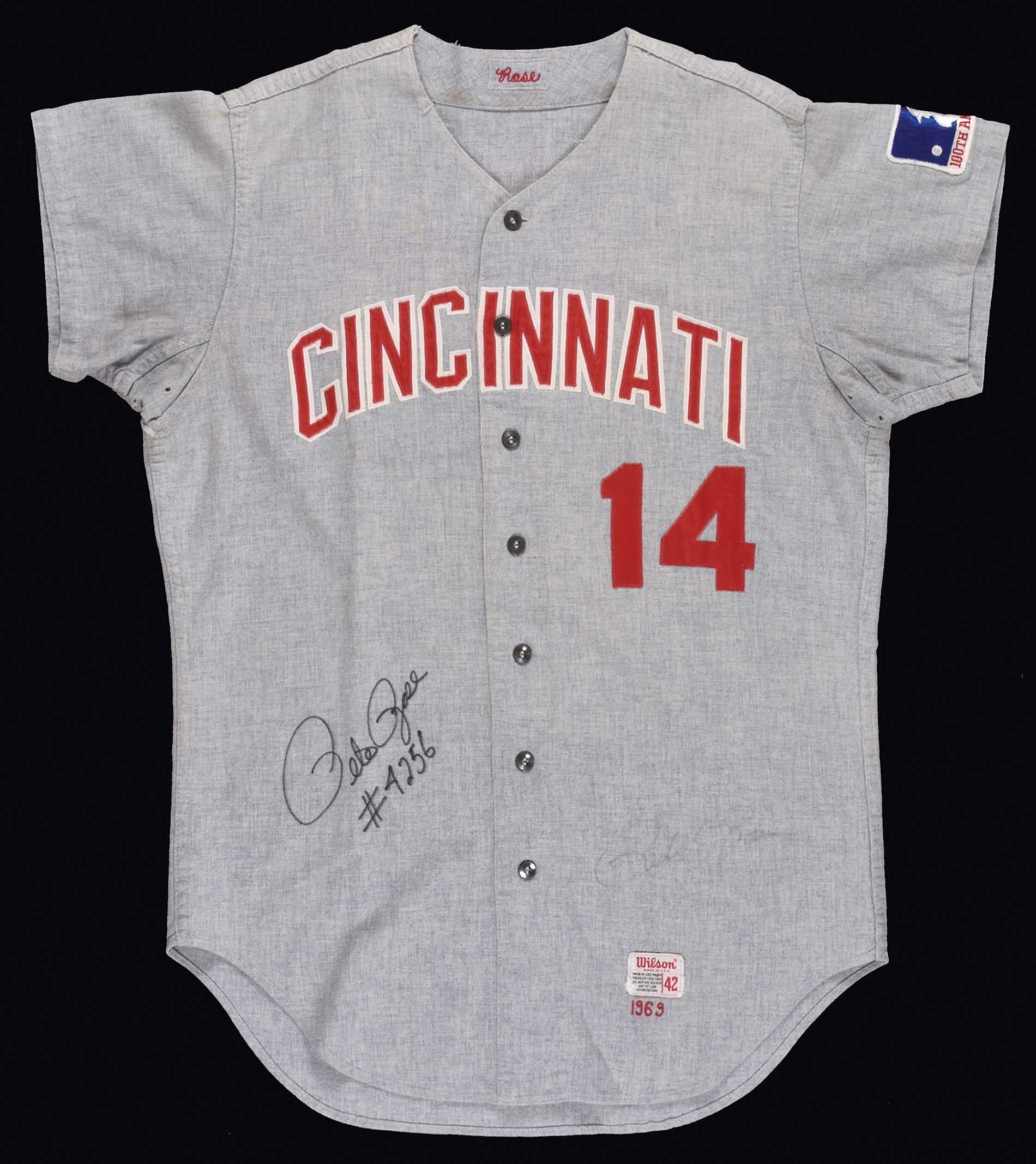 new style 92a6a 7e44b 1969 Pete Rose Cincinnati Reds Signed Game-Used Road ...