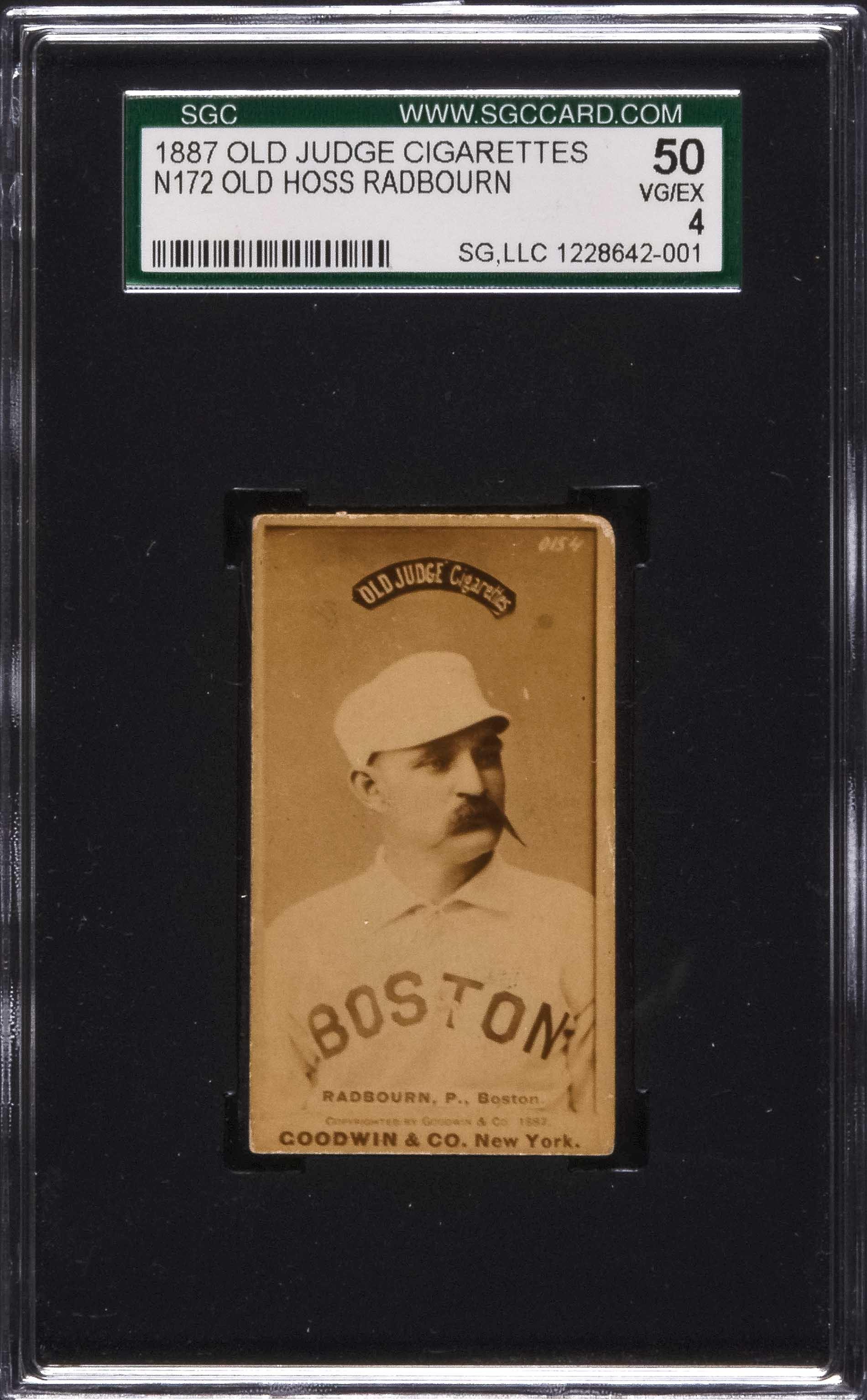 1887 N172 Old Judge Charles Old Hoss Radbourn Portrait