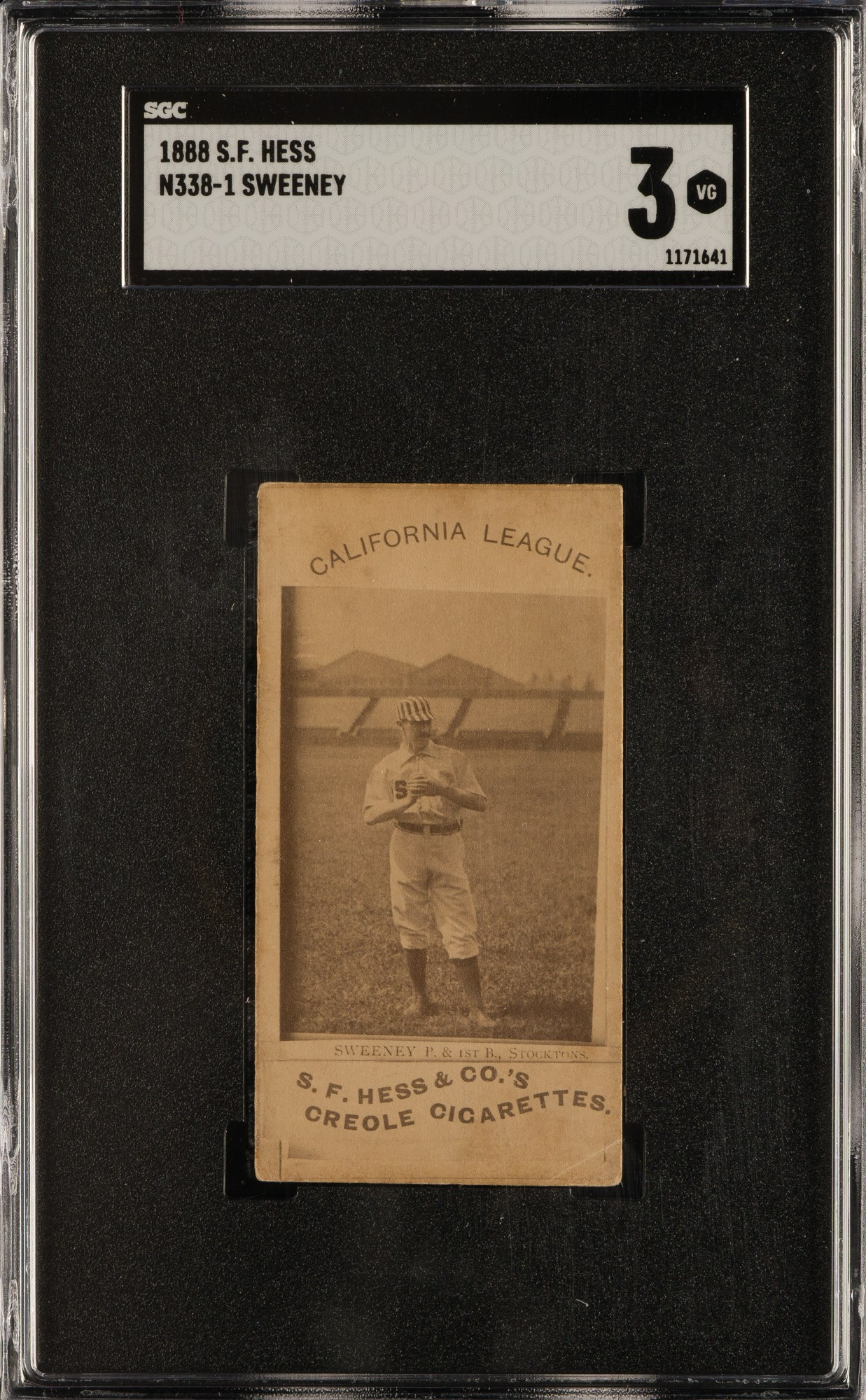 1888 N338-1 S F  Hess California League Charles Sweeney
