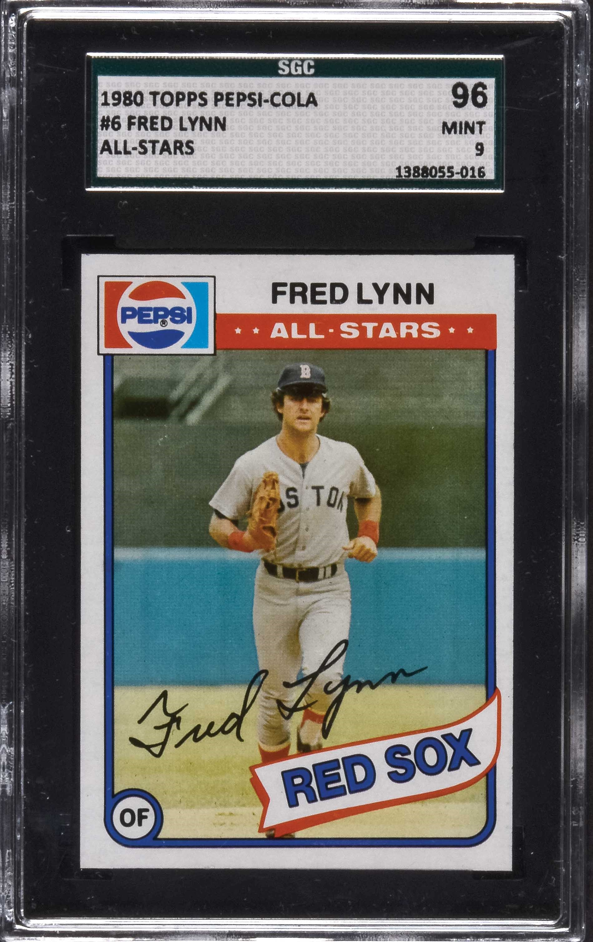 Extremely Rare 1980 Topps Pepsi-Cola All-Stars #6 Fred Lynn SGC